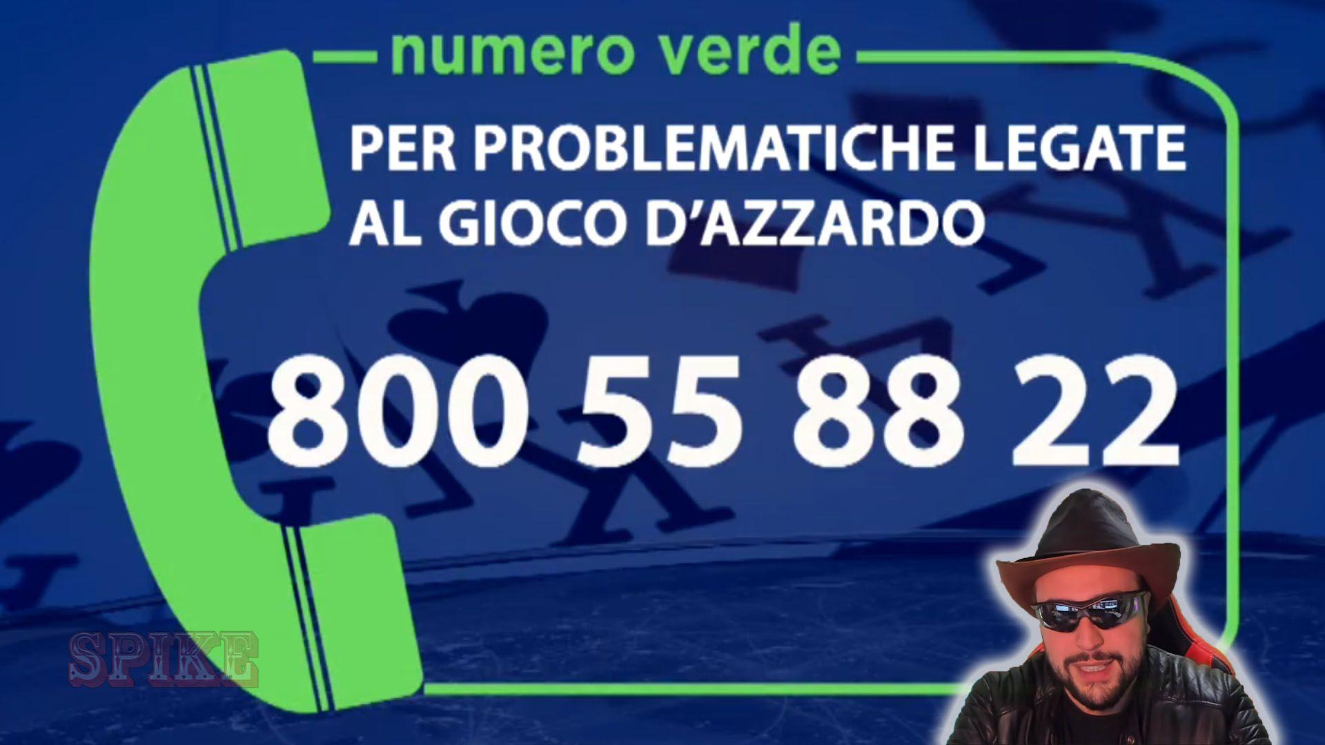 SPIKE con il Numero Verde per Problematiche di Gioco d'Azzardo