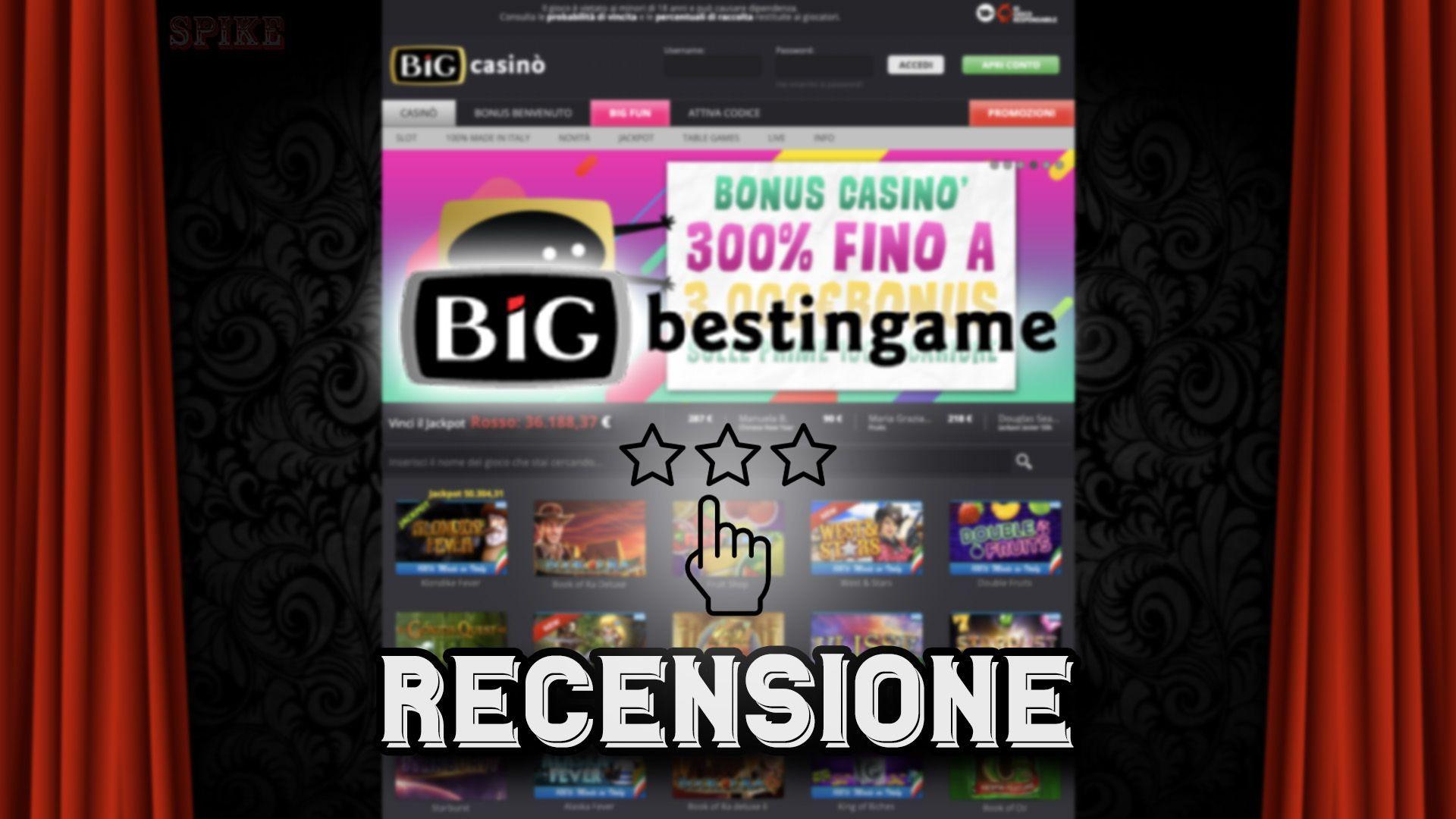 Big Online Casino Guida Recensione Gratuita