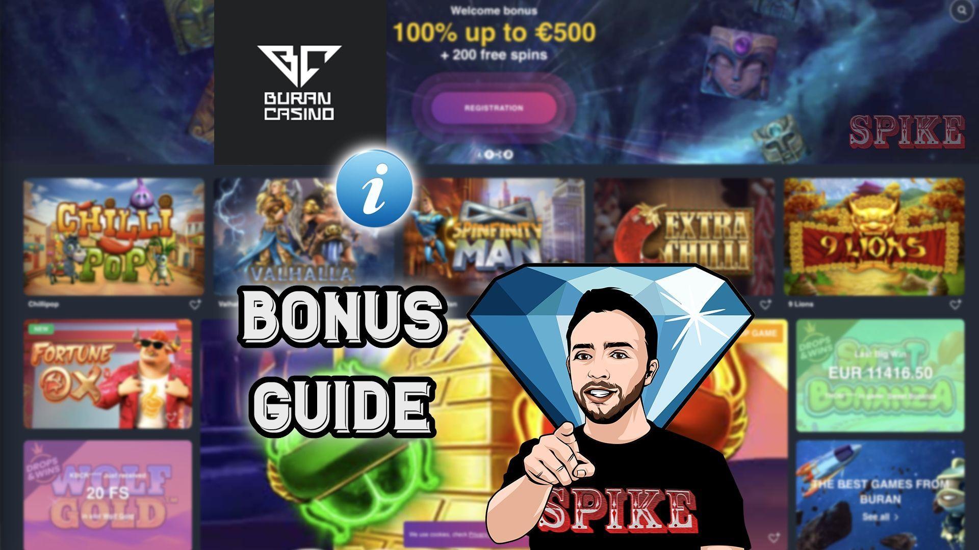 Buran Casino Bonus Guide Logo