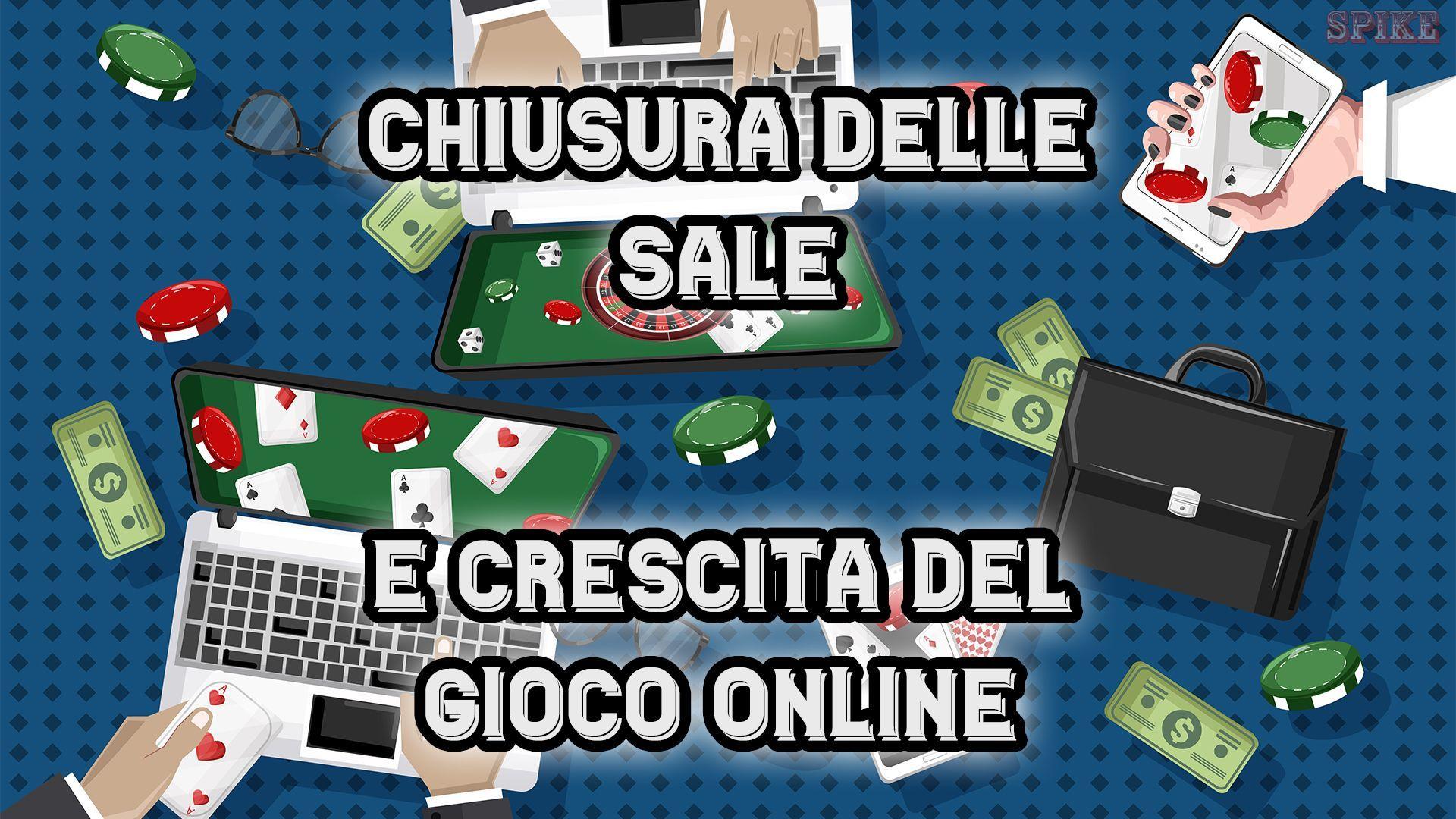 Giochi Legali Online in Aumento dopo la Chiususra delle Sale Slot