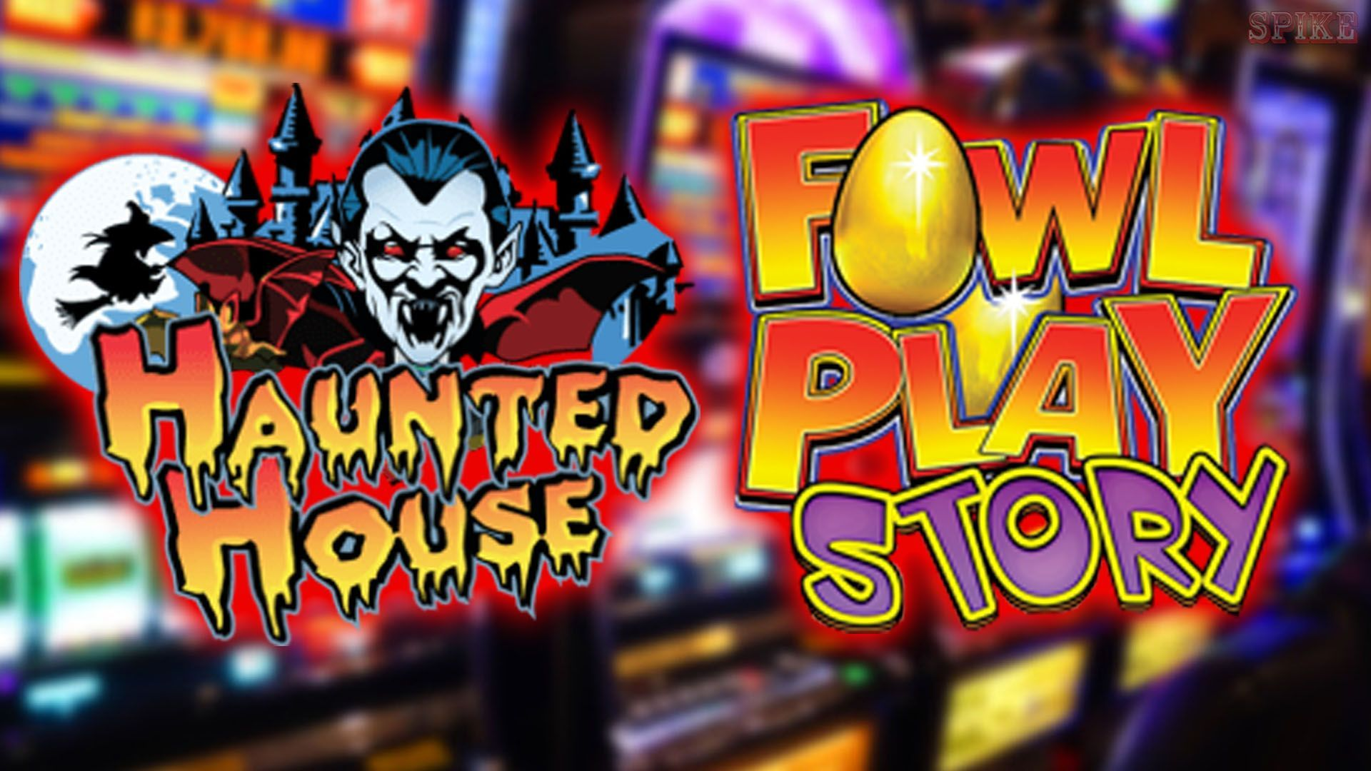 Haunted House Fowl Play Slot Logo