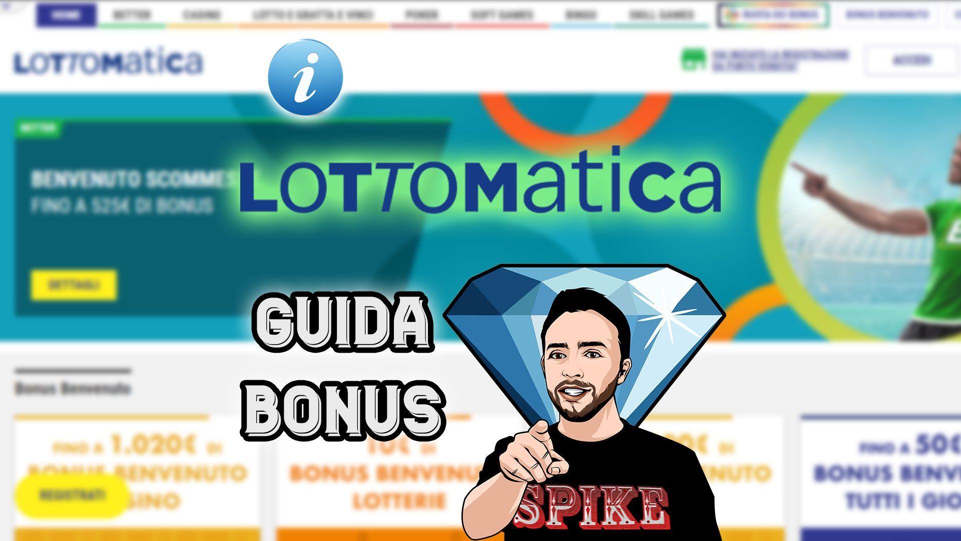 Guida al Bonus di Benvenuto Lottomatica Recensione